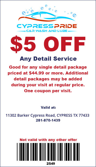 Deals Cypress Pride Car Wash And Lube 1302 Barker Cypress Road